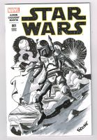 Boba Fett Blank Sketch Cover Star Wars 001 by ChrisFaccone