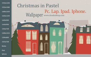 Christmas In Pastel Wallpaper by cu88