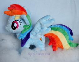 Rainbow Dash Plush by Rainbow-Kite