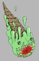 Zombie Ice Cream by Cannibal-Cartoonist