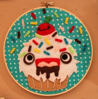 Monster Cupcake Hoop by loveandasandwich