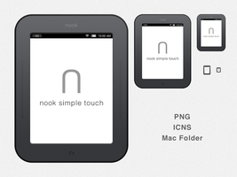 nook Simple Touch Drive Icon by sarathijh