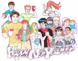 Happy New Years from the Voltron Force by Cheetoy