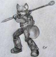 Fox McCloud Pencil Drawing 2 by Spectrum-VII