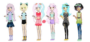 Pastel Goth Adopts {CLOSED} by Mysteryy-Adopts