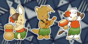 Hula Critters by Ponygir1