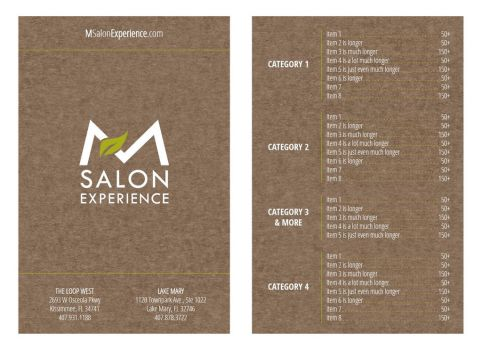 Salon Menu Concept 2 by mynando