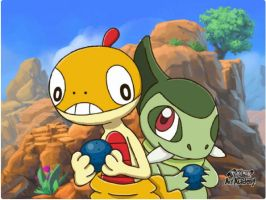 Scraggy and Axew
