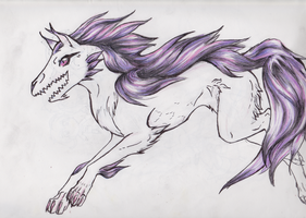 Purple haired ghost by PenutKitty