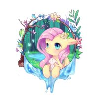 Fluttershy-the Waking of Insects by Nitrogenowo