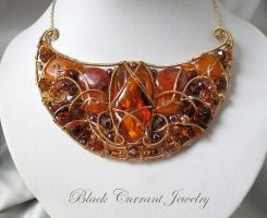Scythian Necklace with Amber by blackcurrantjewelry