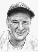 Lou Gehrig by gregchapin