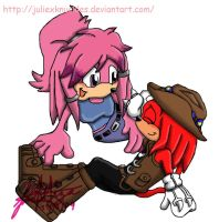 Julie su and Knuckles by Juliexknuckles
