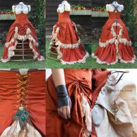 Steampunk Wench Wedding Dress by Jolien-Rosanne