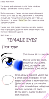 How to draw Female Eyes by Simita by Simita