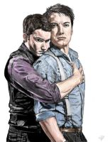 Don't leave me- Jack and Ianto by Wondercookies