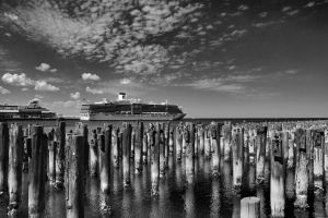 Princess Pier (Monochrome) by djzontheball