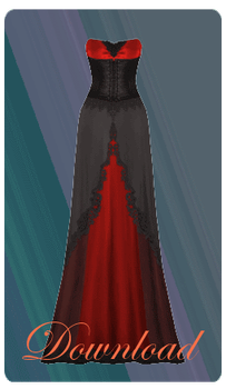 [MMD] VAMPIRIC GOWN [+DL] by Sims3Ripper