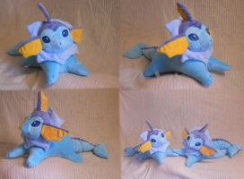 Vaporeon , another commission by PlushPrincess