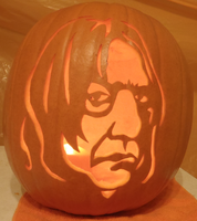 Snape Pumpkin Light by johwee