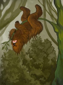 Chewie stuck by MadHatters-Wife