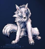 White Wolf by emerald-song