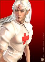 Cosplay: Sesshoumaru Nurse 2 by bastblack