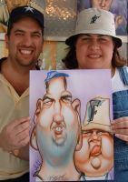 Caricature couple from Miami 2 by WadeFurlong