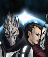 ME3: We Face Our Enemy Together by LittleWolfHands