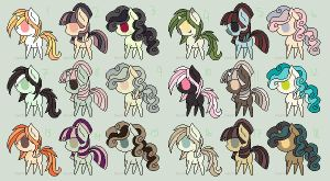 MLP Adoptables - Name Your Price! - 6 left! by Purr-Adopts