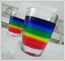 Colors in my  2 glasses by Maleiva
