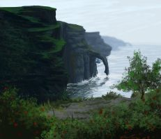 Speed paint: cliffs edge by RavenseyeTravisLacey