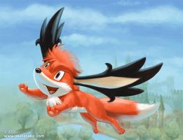 Vuk the Fox Sky Forme by akelataka