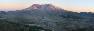 Mount St Helens Panoramic by Ubhejane