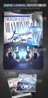 Diamonds and Denim PSD Party Flyer Template by ImperialFlyers