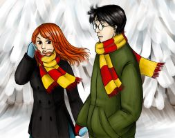 Ginny and Harry by BuzDeeZul