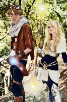 Lux and Ezreal by IvrinielsArtNCosplay