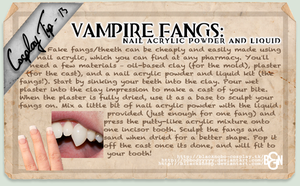 Cosplay Tip 13 - Vampire Fangs by Bllacksheep