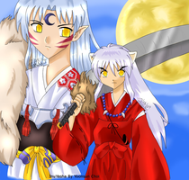 InuYasha-Midnight Moon by michirumakichi