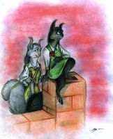 squirrels from Redwall by FortunataFox