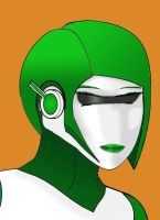 Gynoid Head by Imperator-Zor
