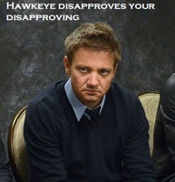 Hawkeye disapproves by bdehkte