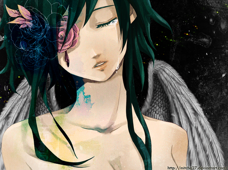 gumi cry wallpaper by Mitche27
