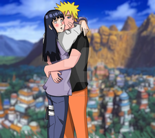 Naruhina - 'N-Naruto.. someone is watching us by XJose-chanX