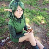 Waiting for Link in the Lost Woods by LunarLyn