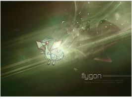 Flygon Cellphone Wallpaper by Luishi17