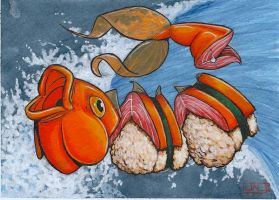 Koi Series, happy lunch by Leprikhan