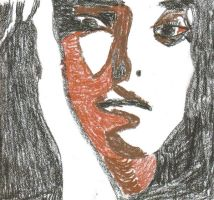 A womans face by Buhla
