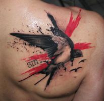 Swallow tattoo by eris09