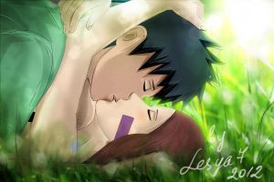 Obito and Rin: Summer kiss by Lesya7